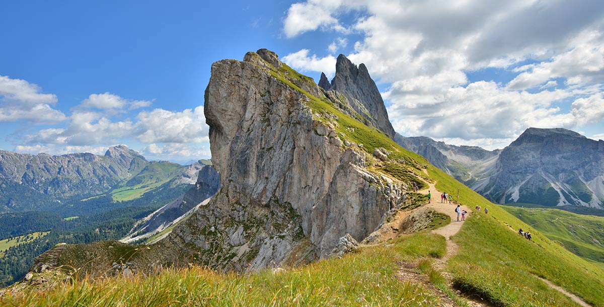 A trail at high altitude in Alta Badia