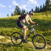 Mountain bike in Alta Badia