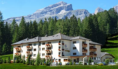 The Hotel Cristallo is situated at La Villa in Alta Badia