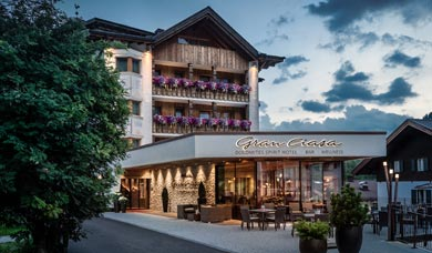 The Hotel Gran Ciasa in Alta Badia is situated at Colfosco